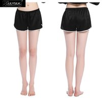 Wholesale-Lilysilk Frauen Shorts aus reiner Seide Satin 22 Momme elegant mit Trimming Plain legere Kleidung Sommer Weibliche Mujer Schlafen Bottoms