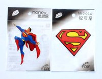 Wholesale Iron Patches Superman - Free Shipping Mix 100pcs Superhero ~Superman Mixed Style Embroidered patch iron on Motif Applique, garment embroidery patches DIY accessorie