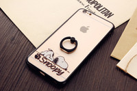 Wholesale Thin Chinese Phones - Wholesale Cell Phone Cases TPU+PC Cartoon Finger Ring Ultra-thin For iPhone 6 6S 7 or Samsung or Chinese Brand OEM HM
