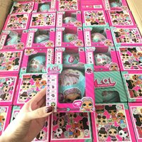 Wholesale Wholesale Doll Boxes - LOL Surprise Dolls Unpacking Dolls Dress Up Toys Baby Tear Open Change Egg Dolls spray Kids Gift Single Retail Box