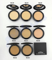 Wholesale New Powder Plus Foundation - HOT NEW Makeup Studio Fix Face Powder Plus Foundation 15g High quality +gift