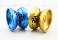 Wholesale Yoyo Strings - Alloy Cool Aluminum Design High Speed Professional YoYo Ball Bearing String Trick Yo-Yo Kids Magic Juggling Toy YH061