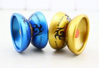 ingrosso stringa in alluminio-Lega di alluminio fresco design ad alta velocità professionale YoYo Ball Bearing String Trucco Yo-Yo bambini giocattolo di giocoleria magica YH061