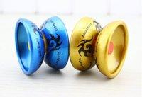 yoyo für kinder großhandel-Legierung Cool Aluminium Design High Speed Professionelle JoJo Kugellager String Trick JoJo Kinder Magie Jonglieren Spielzeug YH061