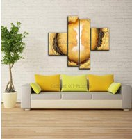 Wholesale Intimate Lover - Intimate Lover Oil Painting On Canvas Four Pieces A Set Modern Fine Art For Living Room Decoration Lover Oil Painting Decoration