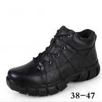 Wholesale Cow Mountain - Men Boots Add Fur Waterproof Anti-Skid Mountain Climbing Rubber Snow Boots Outdoor Trekking Outdoor Snow Flats Shoes