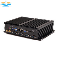 Wholesale Mini I5 - IPC fanless mini industrial pc with Intel Windows I5 3317U Processor and Dual LAN 4*RS232 COM Port