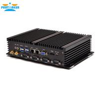 rs232 pc al por mayor-Mini PC industrial sin ventilador IPC con procesador Intel Windows I5 3317U y puerto COM 4 * RS232 de LAN dual