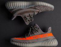 Wholesale unit flat - v2 Sply 350 orange streak v2 Boost 350 With Box, breathable primeknit upper and comfortable boost enhanced sole unit Kanye West Shoes