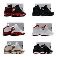 erkek ayakkabıları toptan satış-Bebek Siyah Erkek kız 13 s Uçuş Tarihini Getirdi Çocuklar basketbol ayakkabı HOF çocuk atletik spor erkek kız sneakers boyutu 28-35