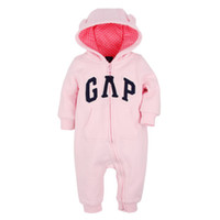Wholesale 3t Costume Boys - Cotton Baby Pink Zipper Rompers 2016 Newborn Jumpsuit Clothes Ropa De Long Sleeve Hooded Cotton Baby Costume Spring Autumn Romper ROB50
