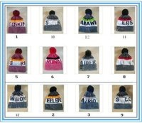 Wholesale Hockey Fitted Hats - New colors Beanies 2018 Football Snapbacks all teams beanies adjustablevwinter hats basball fitted caps football mix order