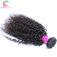 Wholesale Very Curly Hair - Mongolian Afro Kinky Curly Hair Human Hair Weaves,Color Magic Hair Products Kinky Curly Virgin Hair Bundles 3PCS Very Soft 10A Quality