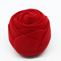 Wholesale Novelty Jewelry Boxes - Ring box Novelty Velvet Storage boxes for earrings wedding Gift Rose Flower Cartoons Fish Jewelry Box Packaging Display