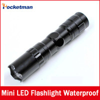 Wholesale Wholesale Flashlights Free Shipping - High quality mini LED Flashlight! Strong Lanterna Torch light Waterproof lantern penlight Free Shipping