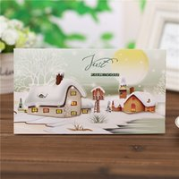 Wholesale 2016 New Products cm Creative stereoscopic Christmas New Year greeting card for blessing
