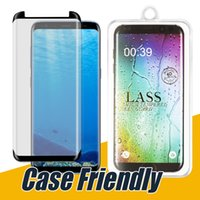 Wholesale crystal case glass - Case Friendly Glass For Samsung S9 S8 Plus Small Version Curved Full Curved Tempered Glass For Samsung S6 S7 Edge with Crystal Package
