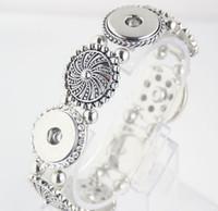 Wholesale Love Stretch Bracelet Wholesale - Popular Fashion Elegant Artistical Snap Jewelry Charm Bracelet Fit 18mm Snap Buttons Charm Stretch Bracelet E827L