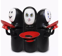 Unisex black collector dolls - Spirited Away No face Fun Electric Music Piggy Bank Automatic Coins Collection No Face Coin Collector Model Figure Doll Novelty Fidget Toys