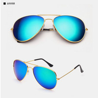 Wholesale Reverse Mix - 2016 Hot Classic reverse luster membrane sunglasses wholesale Retro dazzle colour sunglasses Frog mirror sunglasses 026