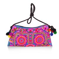 Wholesale Embroidered National Trend Bag - Wholesale- Hot New Women Bag Trend Boho Embroidered Floral Bags Shoulder Messenger Vintage Handbag Gifts New Arrival