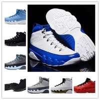 Wholesale fabric charcoal - with box 9 Anthracite black Copper Statue Baron Charcoal Johnny Kilroy blue Mens Basketball Shoes Cheap 9s IX Sneakers 7-13