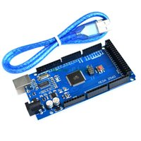 Wholesale Wholesale Arduino - Wholesale-Free shiping !!! Mega 2560 R3 Mega2560 REV3 ATmega2560-16AU Board + USB Cable compatible for arduino good quality low price