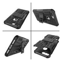 ingrosso caso ibrido robusto del silicone duro-Tire Kickstand Impact Fashion Luxury Hybrid Case per Sony Xperia E5 Rugged Armor per Iphone 7 / Plus / Galaxy Note7 Dazzle Hard PC + Tpu Soft