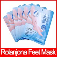 Wholesale Remove Odor - Hot ROLANJONA feet mask Milk and Bamboo Vinegar Peeling Feet Mask Remove dead skin Reduce odor free shipping