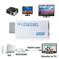 Wholesale High Output Audio - High Speed Wii to HDMI Wii2HDMI Adapter Converter 3.5mm Audio Video Output Full HD 720P 1080P Upscaling HDTV Monitor