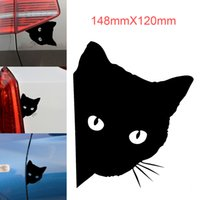 Venda Por Atacado Cool Design Car Stickers Cat Face Reflective Cartoon Animal Sticks Pet Decoração para carro motocicleta CEA_311
