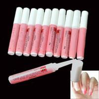 Wholesale Nail Glue 2g - Wholesale 100pcs Lot Pink Nail Glue 2g Mini Professional Beauty Nail Art Acrylic Glue Decorate Tips Free Shipping