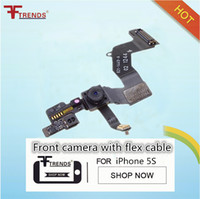 Wholesale Air Free Sensor - for iPhone 5S Front Facing Camera with Sensor Flex Cable Ribbon Replacement Repair Parts Free China Post Air Mail AA0010