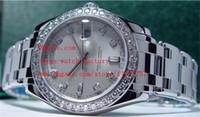 Wholesale Diamond Platinum - Luxury High Quality Sapphire Glass Mechanical Watch Diamond 39mm Men's Platinum DIAMOND MasterPiece Model 18946 Automatic Mens Watches