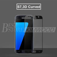 Wholesale Wholesale Full Cover S3 - Top Quality. 3 Color 3D Curved Full Cover Tempered Glass For Samsung S7, S7 Edge. With Retail Package. Ship Within One Day!