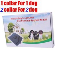 Wholesale Black Dog Fence - 5pcs lot Smart Underground Waterproof Pet Electric fence Shock Collar Electric Dog Pet Training Fence Fencing System W-227