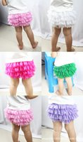 Wholesale Lace Bloomers For Toddlers - Baby bloomers Infant Ruffle Panties Lace Tutu Shorts Pant for Girl Boy Bebe Diaper Covers Toddler Birthday Party Newborn Clothes
