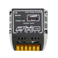panel solar batería de carga 12v al por mayor-BSV20A BSV 20A CC002 12V / 24V Panel solar Controlador de carga Regulador de la batería Control de carga Protección segura Inicio al por mayor
