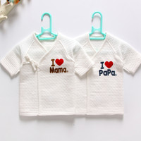 Wholesale monks clothing - 2 New Born Baby Clothes Thermal Underwear Long Sleeve Cotton Months Infant Tank Tops Thicken Tie Kids Monk Clothes Without Fluoresce