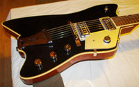 Wholesale White Guitar Black Hardware - Rare Gre G6199 Billy-Bo Jupiter Black Electric Guitar Chrome Hardware White Body Binding