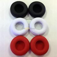 coussinets en mousse noire achat en gros de-Oreillettes de rechange Oreillettes Coussin en mousse Foam Pro pour casque beatspro PRO DETOX mp3 mp4 rouge noir blanc