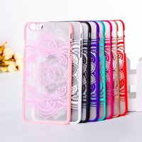 Pittura cassa del fiore colorato Paisley Sun per Apple Iphone 6 6S 4.7 pollici Case Cover Dull polacco in plastica dura per Iphone 6
