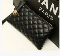 Wholesale Long Chain Handbags - Hot Selling Wallet Long Design Women Wallets PU Leather Kardashian Kollection High Grade Clutch Bag Zipper Coin Purse Handbag