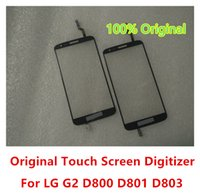 Wholesale Lg Optimus Glass - Original New Outer Touch Screen Digitizer Glass Lens Panel Parts For LG Optimus G2 D802 D805