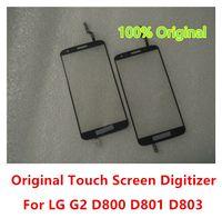 lg g2 original großhandel-Original neue äußere Touchscreen Digitizer Glaslinse Panel Teile für LG Optimus G2 D802 D805