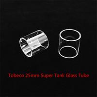 acheter un réservoir achat en gros de-Tobeco 25mm Super Tank Tube de rechange en verre avec DHL Livraison gratuite acheter pas cher Tobeco 25mm Super Tank Tube de verre Fatboy Bulb