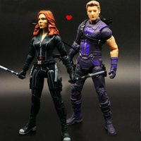 figura del hawkeye al por mayor-Legends Civil War Hawkeye Black Widow Lovers Figura de Acción 2 Unids / set Juguete de Colección