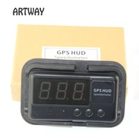 Wholesale Distance Alarm System - Wholesale-Car Vehicle Speedometer HUD Driving time and distance calculate and display Overspeed Warning Windshield Project Alarm System