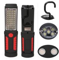 luces de trabajo led brillantes al por mayor-2016 Recién llegado Súper brillante Carga USB 36 + 5 LED Linterna Luz de trabajo Antorcha Magnética + GANCHO Banco de energía móvil para su teléfono al aire libre