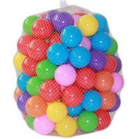 renkli okyanus topu toptan satış-100 Adet Renkli Top Okyanus Topları Yumuşak Plastik Okyanus Top Bebek Çocuk Swim Pit Oyuncak Yüksek Kalite